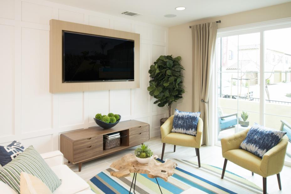 Beautiful Built-In TV Frame for a Black Flat Screen