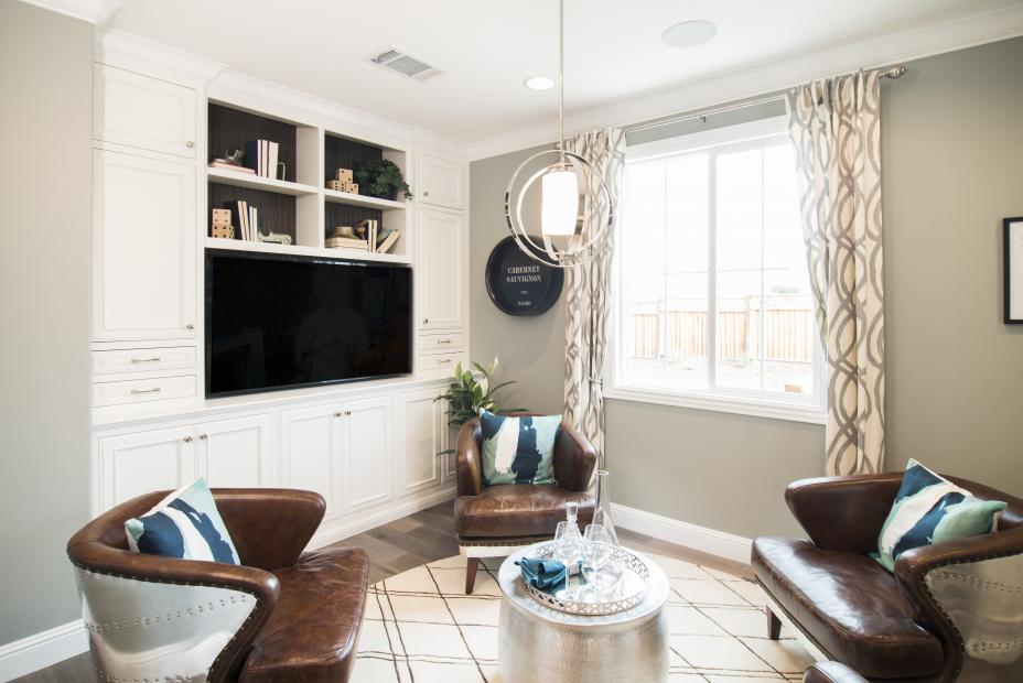 Bright White Entertainment Center with a Stained Beadboard Back and Beautiful Knobs - Pulls