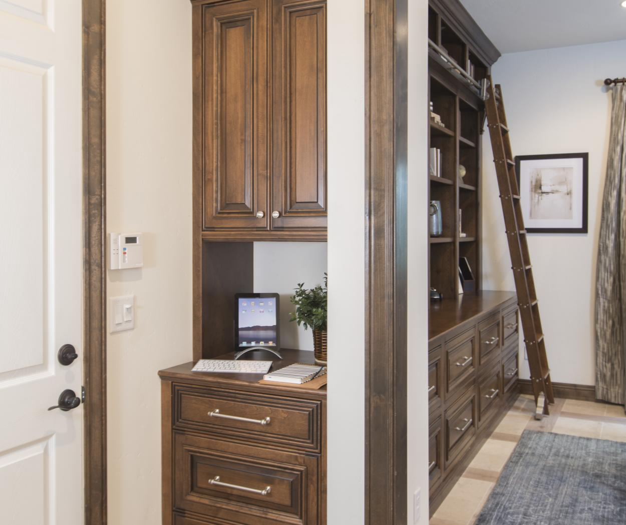 Beautiful Traditional Built-In with Stainless Steel Knobs and Pulls