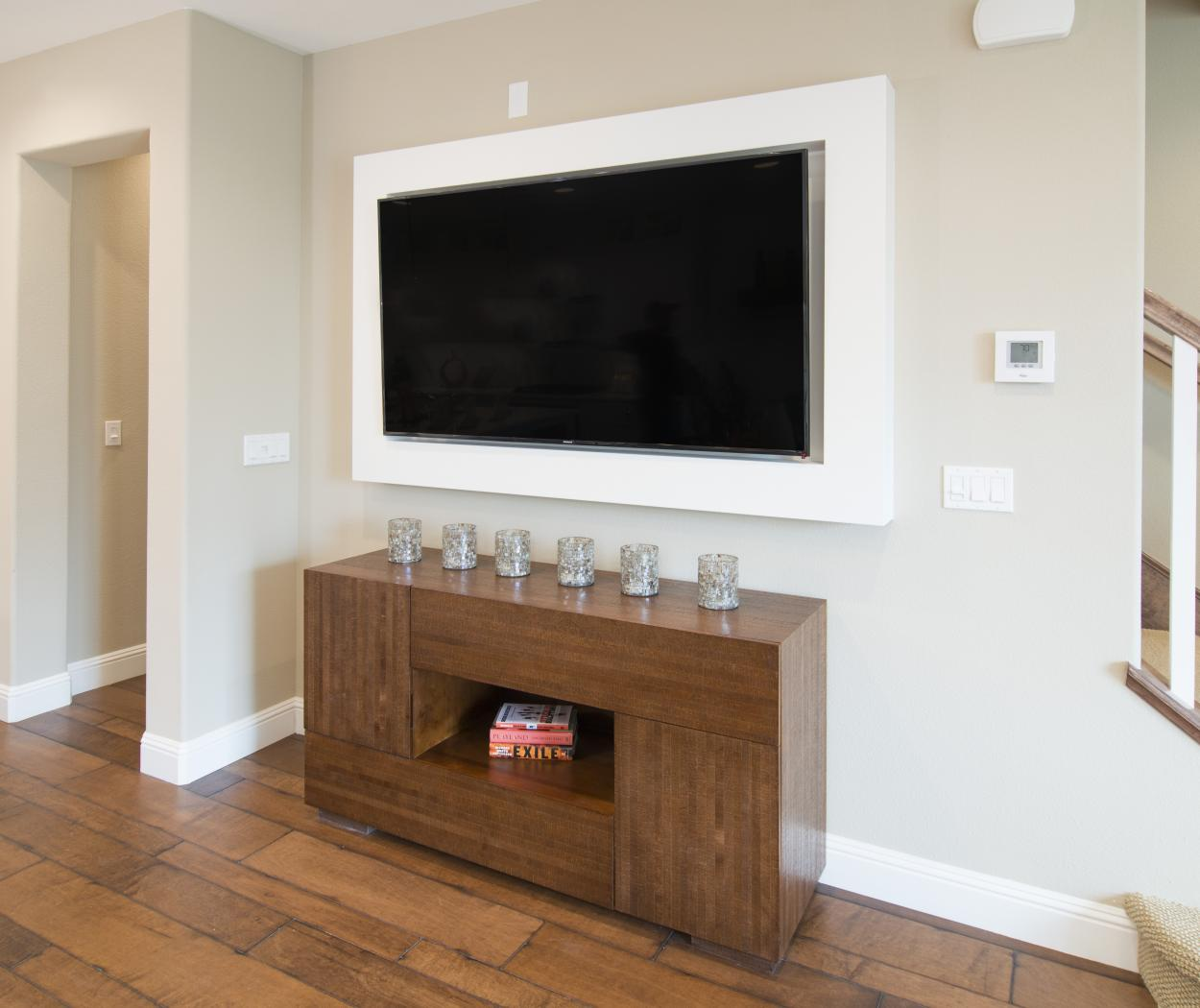 Beautiful White Flat Screen Television Frame